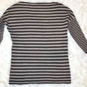 ALICE + OLIVIA Brown Striped Sweater XS